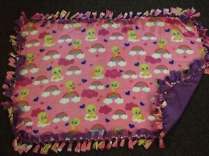 Tweetie bird handmade fleece blanket