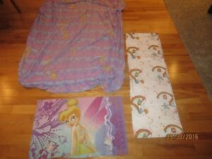 TINKER BELL FITTED SHEET AND A PILLOW CASE + care bears sheet