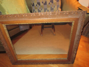 Beautiful large vintage framed mirror - 36 x 30 inches