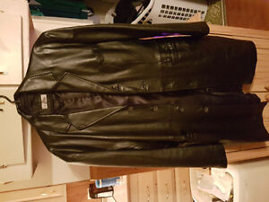 Men's Leather 3/4 length leather jacket