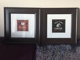 Coffee kitchen hanging framed heavy wall pictures art
