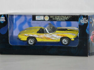 New Ray 1/43 Scale 1967 Corvette Diecast Car Yellow With Flames