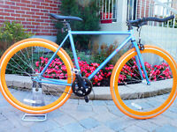 FIXIE neuf cadre 51 cm ou 54 cm fixed gear bike