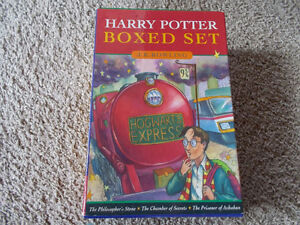 HARRY POTTER-Rare 1st Canadian Edition-HC boxed set #1-3