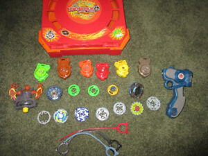 Beyblades Misc lot with stadium