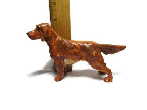 "Irish Setter Dog Figurine Made in Japan Mid Century 4"" tall 1960"