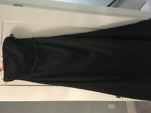 """Black Satin """"After six"""" bridesmaid dress for sale"""