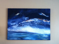 "NEW PRICE ""THE STORM"" Painting by local artist"