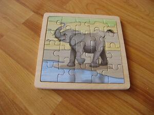Casse-tête éléphant acheté au Zoo de Granby   En bois   NEUF