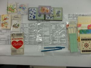 Bridge Cards, Tallys, Rule Book, Table Liner, even 2 Pens