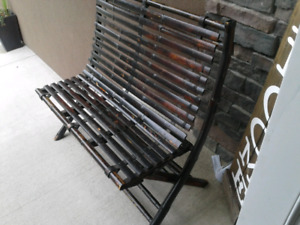 Foldable bamboo bench