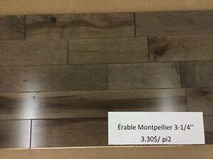 """Érable (3-1/4"""") ou Merisier (5-1/4"""") Montpellier"""