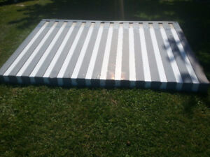 11x7 foot aluminum awning also 20x11 foot awning