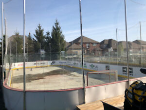 Backyard Hockey Rink 42X64, With Synthetic Ice