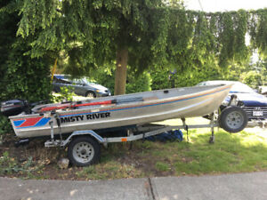 14ft Aluminiun fishing boat w trailer