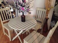 Chalk painted bistro set