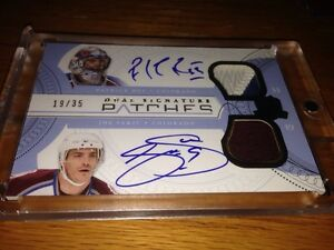 The Cup 2011-12 Dual Signatures Patches Roy Sakic