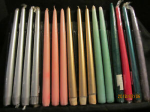 CANDLES 12 INCH TAPERS 27 Assorted