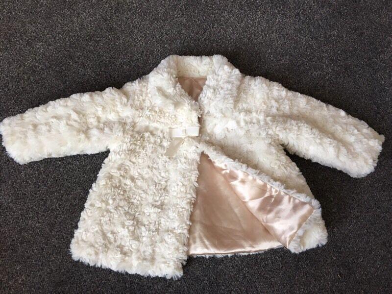 Girls Fluffy winter coat