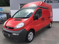 2006 56 VAUXHALL VIVARO VAN HIGH TOP HIGH ROOF RED 2900 LWB LOW MILES NO VAT