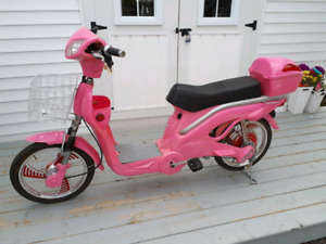 E-Bike  Scooter Style - Just in time for summer fun.