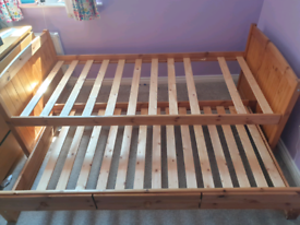 Trundle bed pine