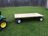 Wagon for Behind a Lawn Tractor