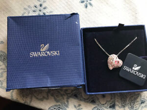 Perfect for Christmas-Swarovski Crystal Necklace / Heart Pendant