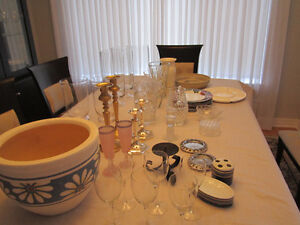 Candlesticks, hurricane's, vases prices vary so make an inquiry