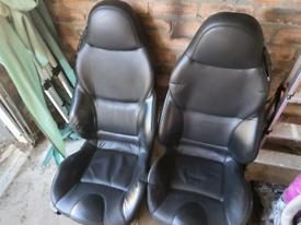 BMW Z3 sport seats black leather