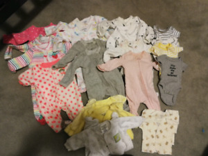 Preemie clothes and diapers