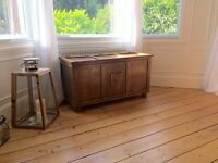 Oak coffer trunk coffee table chest blanket box wooden vintage Kist antique