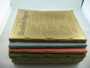 Eight Issues of Vintage 1946 Reader's Digest (Post WW ll Topics)