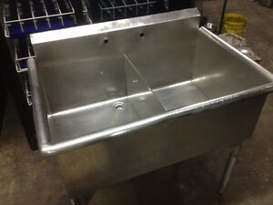 Used stainless steel double sink on Sale