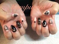 Beautiful sculpted gel nails by crystal..get Pampurred