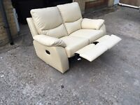 Leather recliner sofa, Free delivery