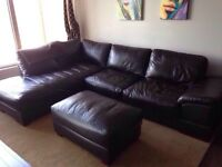 Divas cuir leather couch