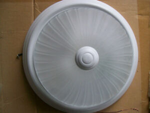 10 inch frosted light fixture