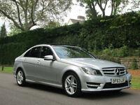 2014 Mercedes-Benz C220 2.2CDI AMG Sport Premium Plus Edition 7G-Tronic. SATNAV.