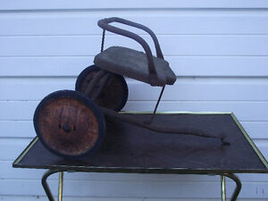 Antique Childs Tricycle Trailer 1930's to 40's?