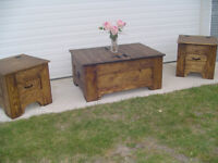 COFFEE TABLE, SOFA TABLE, HOPE CHEST