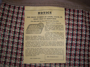 1955 & 1956 Ford & Mercury New Old Stock factory seat covers London Ontario image 6