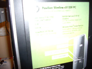 Excellent working condition HP slim Computer and Monitor for sal