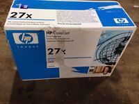Hp 27X cartridge for laser printer.