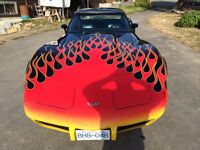 1977 Corvette with FLAMES!!!!