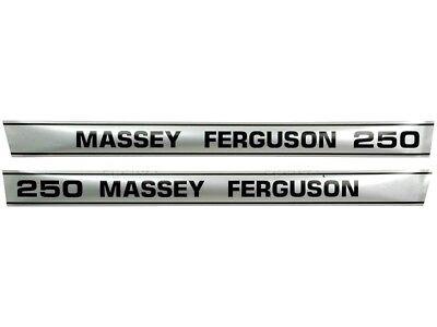 Bonnet Decal Set For Massey Ferguson 250 Tractors