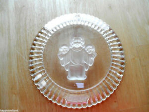 Goebel Annual Crystal Glass Angel Plate 1980