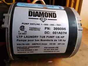 Laundry tub pump