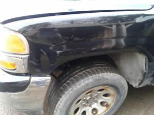 1999-2002 GMC Sierra grill,bumper,lights,fender and doors