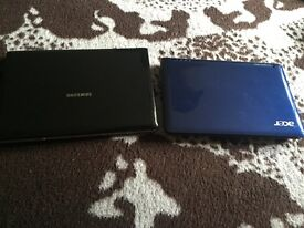 1mini laptop and 1 mini netbook
